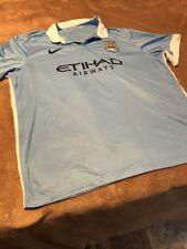 Nike Dry-Fit Etihad airway M.C.F.C soccer light blue shirt men size 3Xl