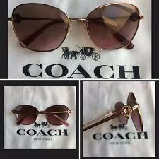 NEW* COACH GIA Butterfly Jeweled ROSE GOLD Lens Womens Sunglass L1070 HC7090🌸