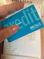 BEALLS CREDIT CARD WITH BALANCE OF $67.84. DOES NOT EXPIRES