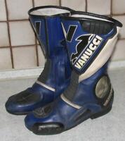 """"""" VANUCCI """" Herren- MOTORRADSTIEFEL / Bikerstiefel / Stiefel in blau ca. 42,5"""
