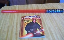 Star Wars Darth Maul BIG FUN Coloring/Activity Book w/Inflatable Red Light Saber