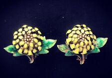 925 Silver Sterling Enamel Chinese Earrings Oriental In Box Flowers China