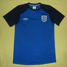 ENGLAND / 2009-2010 Training - UMBRO - MENS football blue Shirt / Jersey. Size S