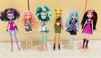 Lot of 6 Monster High Dolls Mattel Dressed Preowned