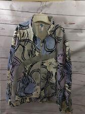 RARE Vintage Adidas NBTA Nick Bollettieri Vintage 80s 90s Full Zip Jacket medium
