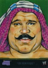 #1 THE IRON SHIEK 2014 Topps Chrome WWE CHAMPION PORTRAITS BY JERRY LAWLER
