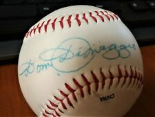 "DOM DIMAGGIO  AUTOGRAPHED BASEBALL BOSOX STAR JOE'S BRO ""THE LITTLE PROFESSOR"""