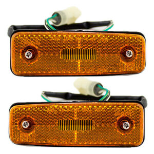 New Pair Set Signal Side Marker Light Lamp Housing Assembly for Toyota Pickup