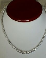 """Necklace sterling silver and cz 18"""""""