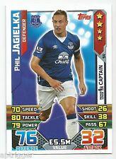 2015 / 2016 EPL Match Attax Base Card (94) Phil JAGIELKA Everton