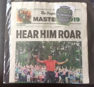 Tiger Woods 2019 Augusta Chronicle Newspaper Masters Win Golf Mint