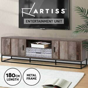 Artiss TV Cabinet Entertainment Unit Stand Storage Wood Industrial Rustic 180cm