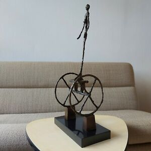 Bronze Sculpture Statue The Chariot after Alberto Giacometti Signed Number
