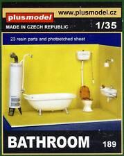 Plus model Badezimmer Bade-Ofen Bathroom oven WC sink Diorama Accessories 1:35