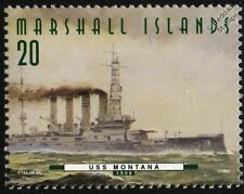 USS MONTANA (ACR-13) Tennessee Class Armored Cruiser Warship Stamp (1997)