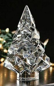 Baccarat Crystal Noel Noel Megeve Fir Clear Christmas Tree NEW With RED BOX SET!