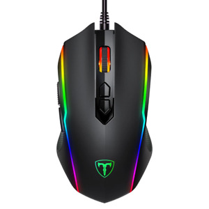 VicTsing Wired RGB Optical Gaming Mouse 8 Programmable Buttons 7200 DPI Adjust