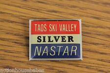TAOS SKI VALLEY - Pin Badge Skiing - RED NASTAR SILVER - New Mexico Mountain MTN