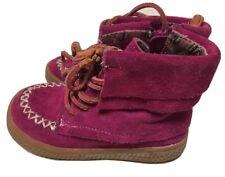 EUC Girls Shoes Short Boots Livie & Luca Fuschia Pink Hopper 7