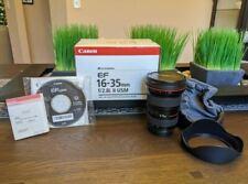 Canon EF 16-35mm f/2.8 L II USM Lens w/Box, Bag, Hood, Caps, Manual