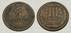 ☆ REMARKABLE !! ☆ 1740 Colonial Era Coin ☆ Very Good Detail !!