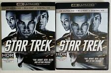 STAR TREK 4K ULTRA HD BLU RAY 3 DISC SET + SLIPCOVER SLEEVE FREE WORLD SHIPPING