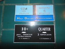 SEEBURG JUKEBOX   220  LARGE CENTER  INSTRUCTION PLASTIC