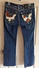 "Miss Me distressed Jeans ""Western Cowhide Pockets"" Boot Cut size 29"