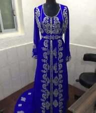 Real Marroquí Elegante Caftán Boda Vestido Mano Zari Bordado Trabajo para Mujer