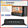10-100A LCD Solar Panel Battery Regulator Charge Controller 12/24V Dual USB Tool