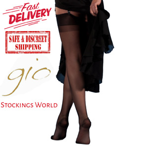 GIO RHT Stockings / Nylons - BLACK - imperfects TALL NEW