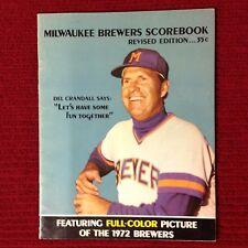 1972 Milwaukee Brewers Scorebook New York Yankees at Milwaukee Brewers