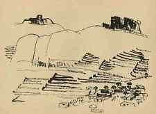FELSLANDSCHAFT bei TAI-SAN CHINA - Gustav SEITZ - Original Druckgraphik um 1950