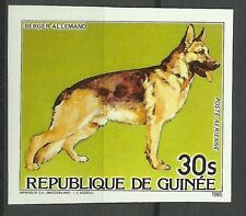 GUINEE GUINEA CHIENS BERGER ALLEMAND DOGS HUNDE NON DENTELE IMPERF ** 1985 RARE