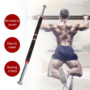 Pull Up Bar Sit Chin Up Door Gym Home Exercise Strength Body Workout Fitness