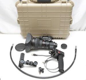 """Fujinon ZA22X7.6BERM 2/3"""" B4 HD lens W/ Rear controls, Case, Excellent condition"""