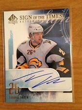 2008/9 SP Authentic Sign of the Times Thomas Vanek autograph Buffalo Sabres