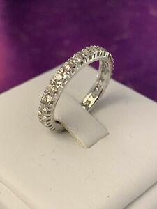 ETERNITY ring anello FEDINA giro oro bianco 750°/°°18KT VERI brillanti ct 0.51