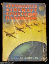 Vintage 1943 PB AERONAUTICS AIRCRAFT SPOTTERS' HANDBOOK Ensign Guthman USNR