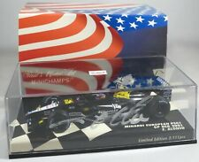 MINARDI PS01 #14 Fernando ALONSO F1 2001 USA GP INDY signed box MINICHAMPS 1:43