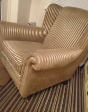 Armchair with Casters very stylish chunky bargain !!! Only 1p!!!! No res!!!