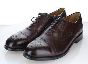 2C54 NEW $300 Men's Sz 11.5 M Cole Haan Kneeland Leather Brogue Cap Toe Oxford