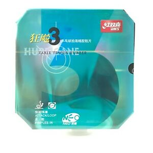 DHS Hurricane 3 NEO Table Tennis Rubber With Sponge DHS H3 NEO Black Color 2.15