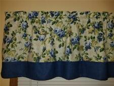 "DENIM & ROSES FLORAL DESIGNER WEIGHT FABRIC NEW CUSTOM CURTAIN VALANCE 53""W,16""L"
