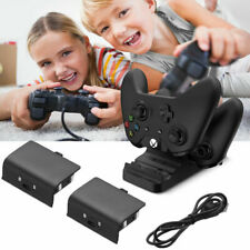 Dual Controller Fast Charge Dock Station +2 Rechargeable Battery for Xbox One