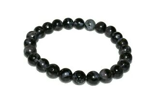 Indigo Gabbro Mystic Merlinite Bracelet Natural Stones Crystal Beads Evolution