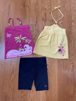 The Children's Place Girls Bike Shorts Size 6 With 2 Shirts/Tops Size 5/6 Outfit