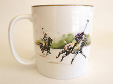 Vtg RALPH LAUREN Iconic 'Polo Scene' Bone China Mug ENGLAND 1983