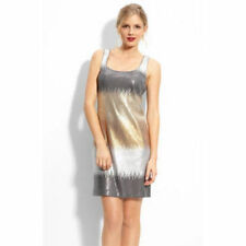 Maggy London Ombre Sequin Tank Dress Size 10 Antique Gold New