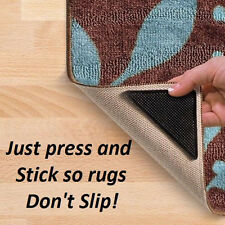 4X Rug Carpet Mat Grippers Non Slip Anti Skid Reusable Washable Silicone Grip h5